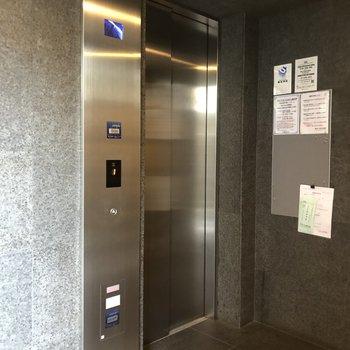 エレベーターまでもがスタイリッシュ…