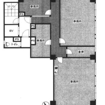 住居のように、廊下と居室形式