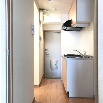 キッチン収納は、一人暮らしなら十分の大きさでした