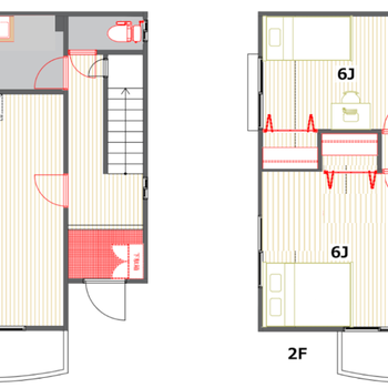 4〜5人家族で住みたい3LDK。2階建てのお部屋です。