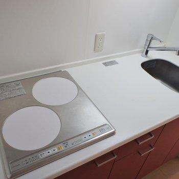 調理スペースもなかなかいい感じ※写真は同タイプ6階のお部屋のもの
