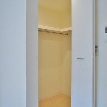 収納はここで◎※写真は同タイプ6階のお部屋のもの