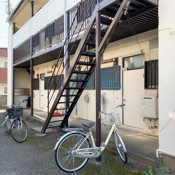 自転車は直置きになりそうです。