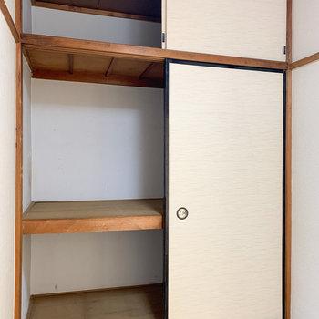 【和室3帖】収納も大きいので、たくさん入りますね。