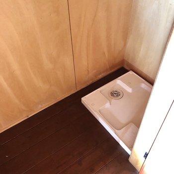 洗濯機置場があります!(※写真は清掃前のものです)