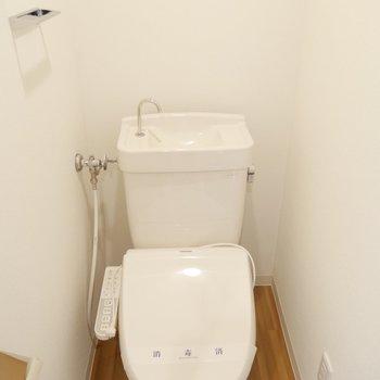 トイレはウォシュレットついてますよ!※写真は同間取り別部屋