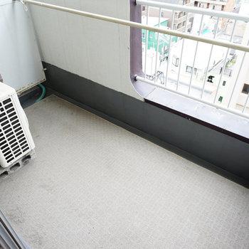 ベランダに洗濯機を置きます ※写真は前回募集時のものです