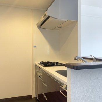 広々なシステムキッチン〜(※写真は3階の同間取り別部屋のものです)