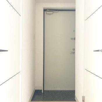 玄関の広さはちょうどいい!