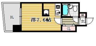 ステイタスマンション博多駅前の間取り
