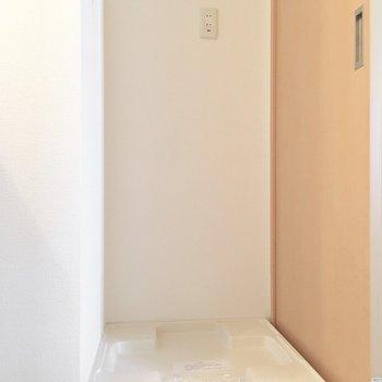 洗濯機置き場はもちろん室内に。