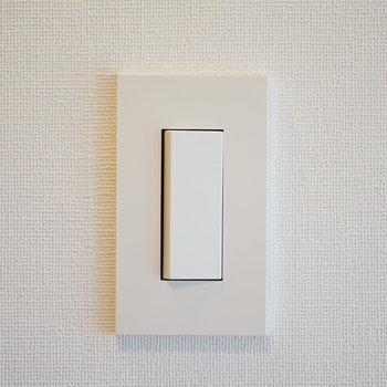 【完成イメージ】スイッチプレートはこちら、毎日触れるところはこだわります。