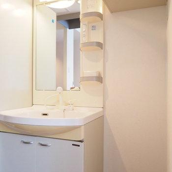 キッチンの反対側に洗面台※同間取り別部屋です