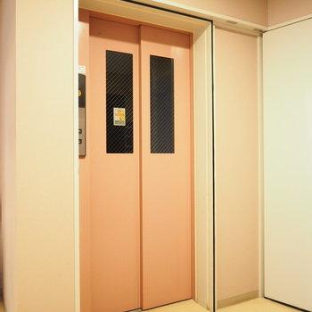 エレベーターは仲良く一機のみ