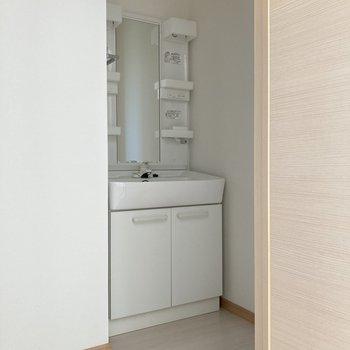 そして廊下の奥に、独立洗面台。