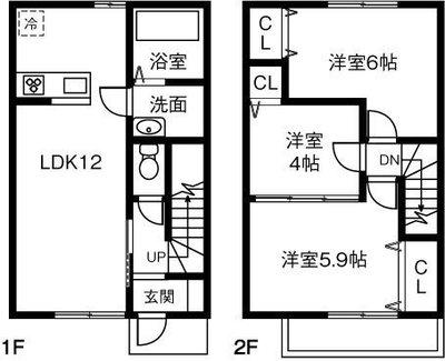 (仮)愛知県清須市阿原借家 の間取り