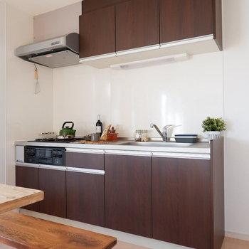 【DK】キッチンはシックなデザイン。※インテリアはサンプルになります
