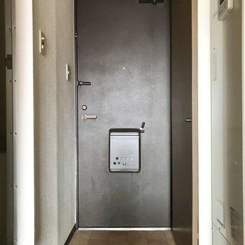 シューズボックスは、ドアと同じ高さまであります※写真は通電前のものです