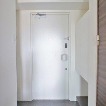 玄関はひろびろなのでワンちゃんも◎。※写真は同タイプの別部屋