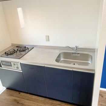 広々キッチン。良い位置にコンセントあります。