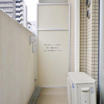 普通サイズです。※写真は、同じタイプの713号室。