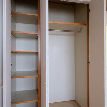 居室の収納内はこのような作り