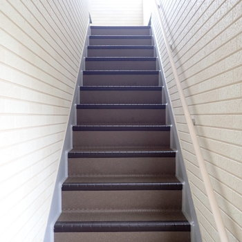 ちょっと急な階段でした。