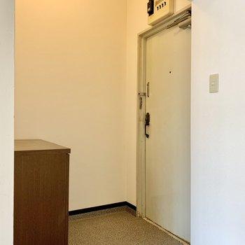 玄関もゆったりスペース。