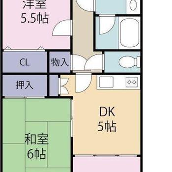 和室もある3DKのお部屋になります。