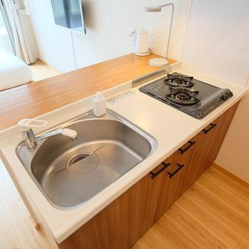 キッチンは使いやすいサイズ感