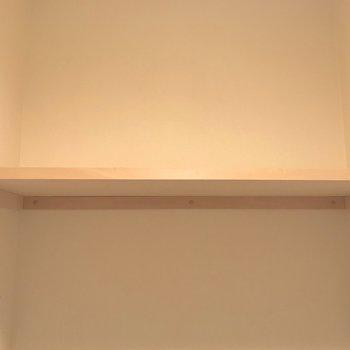 上にはペーパーを置くのに便利な棚がありましたよ。