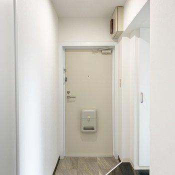 玄関。シューズボックスは写真右側。