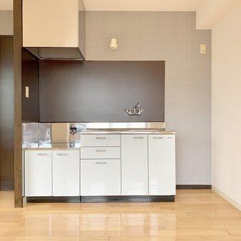 冷蔵庫置くスペースもしっかり確保。