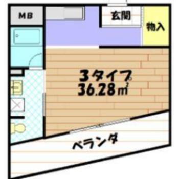 1Rのお部屋。