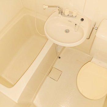 浴室は三点ユニットバスになっています。※フラッシュ撮影を使用しております。