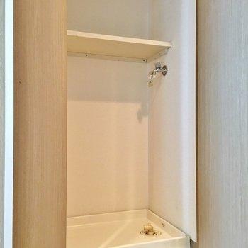 目隠し付き洗濯物置き場あります◎(※写真は4階の同間取り別部屋のものです)