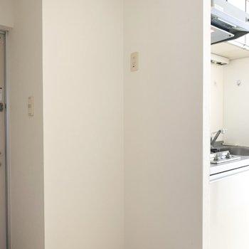 左横が冷蔵庫置場