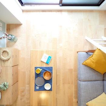 ロフトで広々空間!コンパクトでも開放感あり! ※モデルルーム仕様で家具は付いてきません