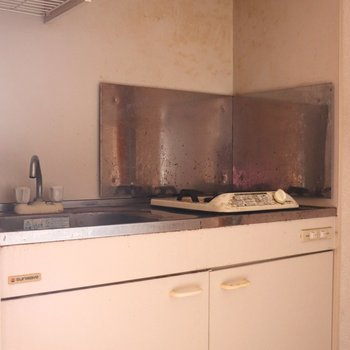 ホワイトボードのキッチン