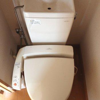 落ち着ける個室トイレ※写真は通電前のものです