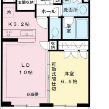 可動式間仕切りの使い方によって、お部屋の使い方を工夫できます。