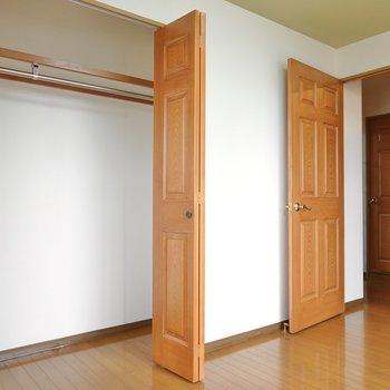 ここにはこのお部屋でいちばん大きな収納があります!