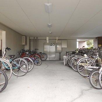駐輪場と駐車場がしっかりあります。