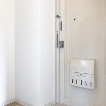 玄関は狭め。(※写真は4階の同間取り別部屋のものです)