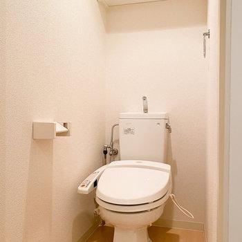 嬉しいシャワートイレ付き。