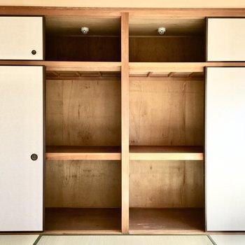 和室②】収納ボックスを駆使して、さらに収納力UPを!
