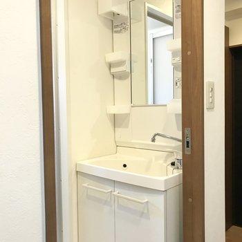 洗面所周りは少し収納が少なめです