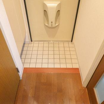 玄関は適度な広さで使いやすい。
