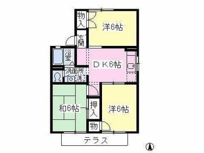 高座渋谷10分アパート の間取り