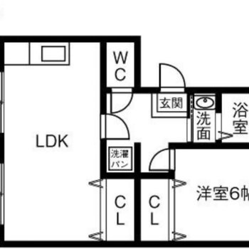 二人暮らしにピッタリな1LDKのお部屋!